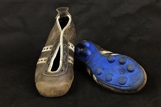 vieilles chaussures foot